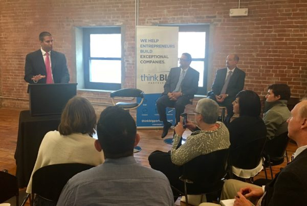 FCC Commssioner Ajit Pai stops at Think Big during a visit to Kansas City to discuss his Digital Empowerment Agenda